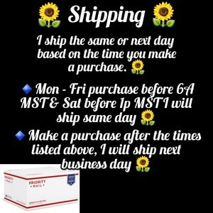 Same or Next Day Shipping 🌻